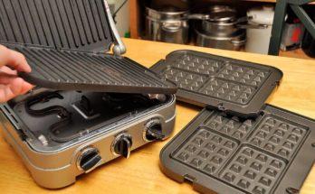 waffle iron removeable plates